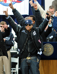 Jay-Z Celebrating the Yankees Championship (noamgalai) Tags: nyc ny newyork championship baseball cityhall parade celebration 27 yankee jayz yankees celebrating newyorkyankees jz noamgalai sitemusic sitemain