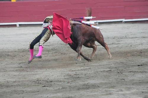 Cogida de Michelito en Lima