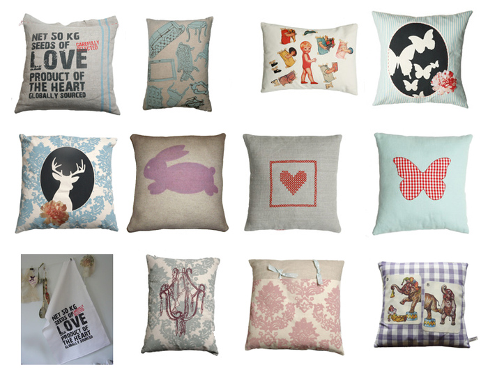 Pillows and tea towels by chocolatecreative
