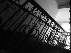 On stair (Matt Roby) Tags: blackandwhite bw stair noiretblanc budapest nb 2009 escalier