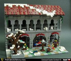 From zero to hero - part 1: Winter (crises_crs) Tags: castle training fight lego jester scene knight dummy colossalcastlecontest ccc7 lugpol arcadedcourtyard cccvii