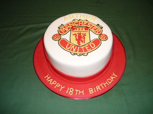 Manchester United 18th Birthday Cake A Photo On Flickriver