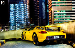 GT in the Night Lights (Mishari Al-Reshaid Photography) Tags: porsche carrera gt exotic german super supercar exoticcars yellow city lights windows dark cool wheels road reflection reflections photomatix photoshop q8 q80 misharyalrasheed misharialreshaid malreshaid mishari kvwc kuwaitvwc kuwaitvoluntaryworkcenter kuwaitphotos kuwaitphotography kuwaitphoto kuwaitcity kuwaitcars kuwaitartphoto kuwaitart kuwait hdr hyperdynamicrange gtmq8 coolcars cars carphotos carphoto carphotography canonllens car canonphotos canoneflens canoneos canoncamera canondslr canonef24105f4l autos automobiles automobile 24105 24105mm