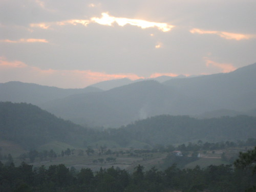 The sunset over the Pai Canyon