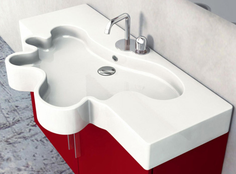Interior : Unique Bathroom Vanity from Duebi Italia