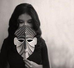 when everything's made to be broken,i just want you to know who i am.. (dream_maze) Tags: iris white selfportrait black true self freedom truth mask gray reveal selfie uncover mukhosh