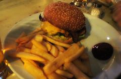 Hamburger at O'Reillys (deeeelish) Tags: fries hamburger