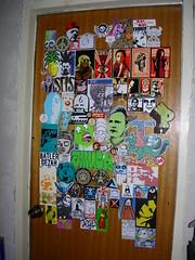 studio door 2 (andres musta) Tags: door studio stickerart stickers workspace decor andres musta klep klepattacks klepattackscom