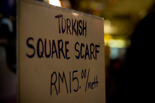 Turkish square scarf