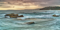 Long Reef horizon (squashed onto squares) Tags: longexposure morning beach sunrise coast pentax sydney nsw k20 monavale longreef northernbeaches cokin