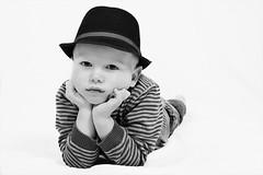 Patient (Paul_Murray_TS1) Tags: boy portrait blackandwhite bw hat studio kid child flash sigma18125mmf3556dc canon400d