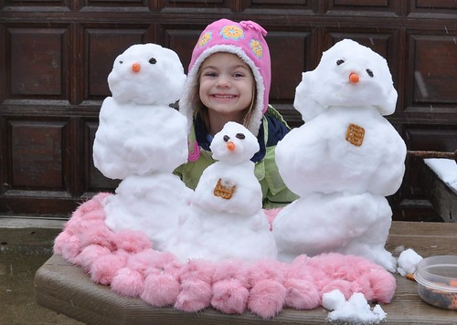 Alana and Her Snowpeople