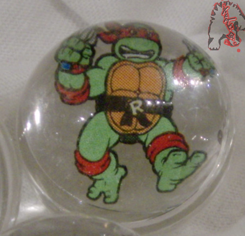 RAD ROLLERS,Collectable Action Marbles :: Teenage Mutant Ninja Turtles COLLECTION Series-1 // Raphael   ((1991 ))