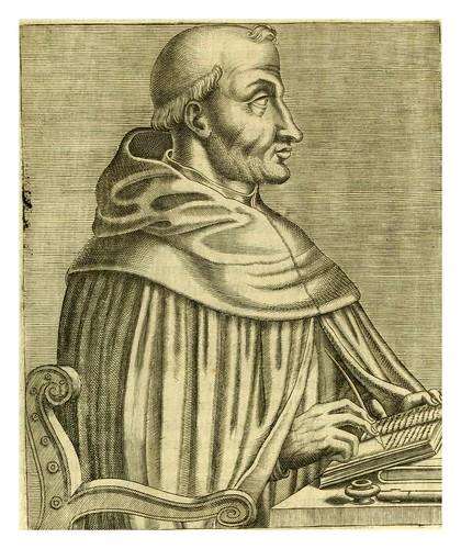 017-Santo Tomas de Aquino-Les vrais pourtraits et vies des hommes illustres grecz, latins et payens 1584-André Thevet