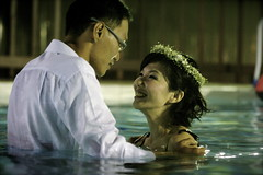 leo  litwey (click to see more) (gu@n) Tags: wedding white love water pool make port swimming fun happy photography groom bride big kiss day scene pre solo sexual gown float intimate 2009 klang selangor prewedding 18sx