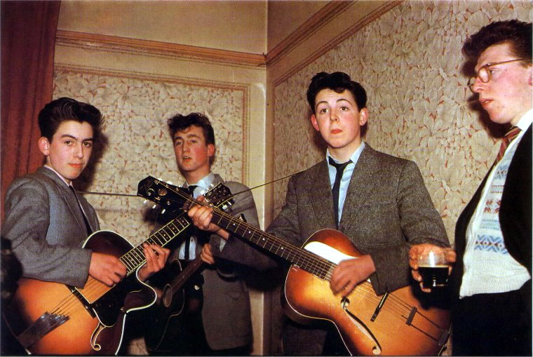 Rare Photograph Of The Beatles In The 1957