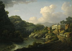 Matlock Bath by William Marlow, c.1790s (Enlightenment!) Tags: museum buxton ceramics derwentvalley worldheritagesite derby belper flamsteed hlf strutt derbyporcelain artfund collectingcultures ashfordblackmarble buxtonmuseum