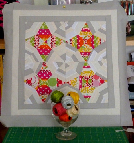 Brit Quilt Swap - Harlot's Web Quilt Top - 2011 -