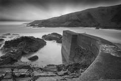 Cove Harbour Long Exposure (Derek Coull) Tags: coveharbour aberdeen longexposure blackwhite seascape pier storm samsungnx500
