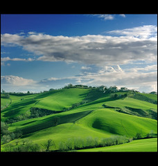 Landscape: Winter Dress is green and blue. (.Gianluca) Tags: park new trip travel family blue light shadow vacation sky italy cloud white color colour tree green art home nature colors beautiful clouds rural canon wonderful