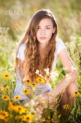 golden (J.Fields) Tags: girl field backlight teen wildflowers
