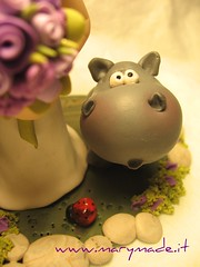 hippo (marytempesta) Tags: polymerclay jungle hippopotamus hippos savanna caketoppers patepolymere