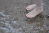 Waiting for the Waves (Artistic Feet) Tags: shells feet beach wet water female french foot sand toes soft waves skin small shell pebbles pale nails tips barefoot pedicure sole petite dainty feminin