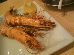 魚の四文屋:えびの塩焼き