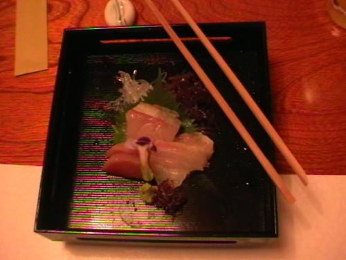 Dinner-Sotong dan ikan mentah