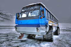Ice Explorer on the Athabasca Glacier - reworked (elementalPaul) Tags: park blue snow canada cold bus ice rockies coach jasper pentax explorer columbia glacier explore national alberta banff freehand hdr jaspernationalpark icefield canadianrockies athabascaglacier brewsters reworked photomatixpro 5xp k10d pentaxk10d