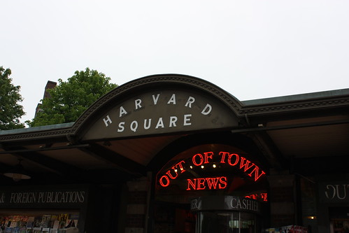 This was just the newsstand. It was not the entirety of Harvard Square.