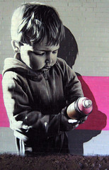 Glasgow (SmugOne) Tags: street uk pink boy urban baby detail art monochrome face wall real gold grey graffiti scotland photo 3d toddler mural montana paint artist action unitedkingdom glasgow character tag picture scottish style can smug spray hiphop spraypaint hip hop graff aerosol tagging aerosolart spraycan realism drains realistic photorealistic photorealism aod montanagold teamalosta alosta smugone