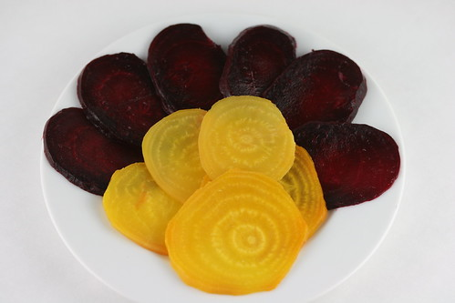 Red & Golden Beet Salad with Goat Cheese (Food Librarian)