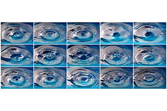 life cycle (Lars Kehrel) Tags: life blue macro reflection water reflections drops wasser action drop cycle blau bild makro reflexion tropfen reihe ablauf lebenszyklus bildreihe