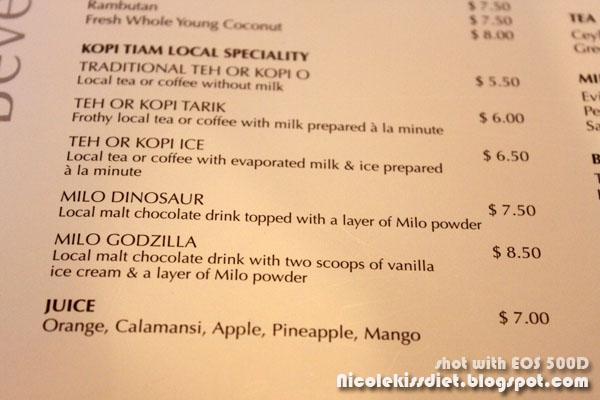 kopitiam menu