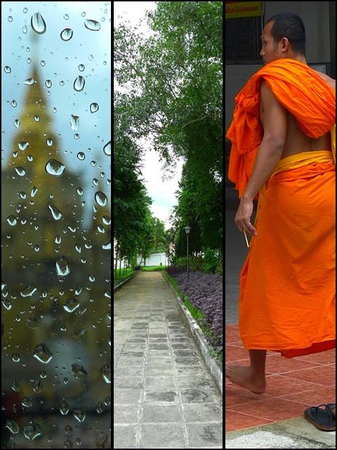 Scenes around Wat Phuttathiwat, a famous temple in Betong. It was ...