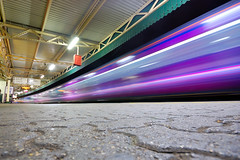 Go, go, go! (le-spikey) Tags: pink blue train bristol temple nikon long exposure purple stu great first sigma explore western 1020mm frontpage intercity hst meads meech d40