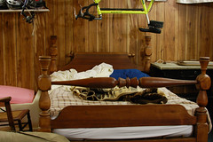 The rope bed