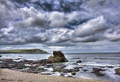 Rocking (rmrayner) Tags: sea seascape beach rock clouds landscape cornwall horizon pebbles atlantic handheld canoneos hdr cloudscapes rockpools polzeath 3xp rmrayner ralphrayner