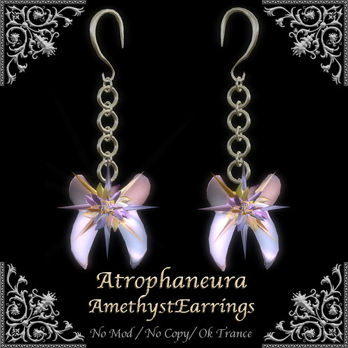 AtrophaneuraAmethystEarrings