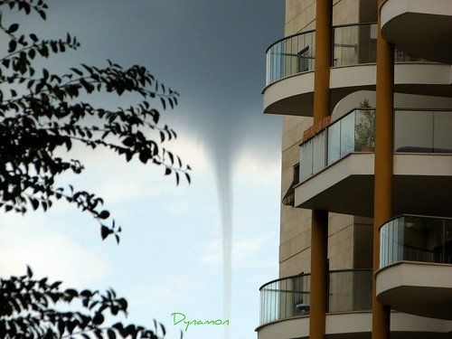 Netanya Israel  - freak weather like tornado