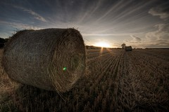 One more... (Ben van der Willik) Tags: sunset nikon leicestershire harvest august hay bale 2009 hdr d90