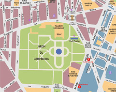 plan of le Jardin du Luxembourg (via TravelWithTerry.com)