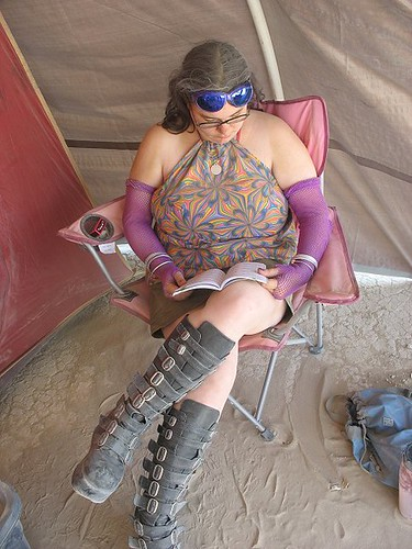 dusty bondage boots