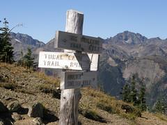 Sign at Marmot Pass.