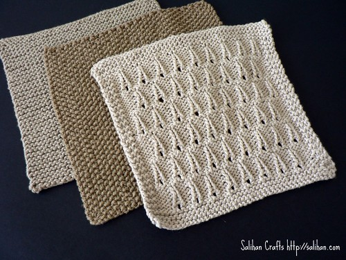 Organic Cotton Knitted Washcloths