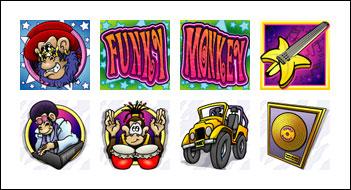 free Funky Monkey slot game symbols