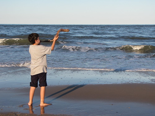 shofar at beach