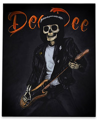 Dee Dee black serie (parbo art) Tags: canvas deedee deedeeramone parbo gabbagabbapaint