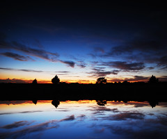 Vanilla Twilight (David Parks - davidparksphotography.com) Tags: sunset sun david reflection oklahoma water nikon parks sigma ps pear d200 1020mm flaming edmond